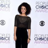 Nathalie Emmanuel en la alfombra roja de los People Choice Awards 2016