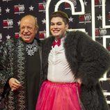 Rappel y Sema posan en el photocall durante la primera gala de 'GH VIP 4'