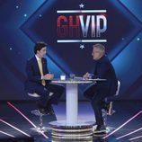 Jordi González entrevista a Francisco Nicolás durante la primera gala de 'GH VIP 4'