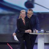 Jordi González y Belén Esteban durante la primera gala de 'GH VIP 4'