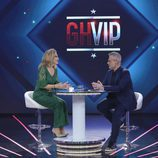 Jordi González entrevista a Rosa Benito durante la primera gala de 'GH VIP 4'