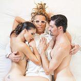 Mireia Canalda y Felipe López, desnudos con Torito