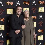Daniel y Antonia Gúzman en la alfombra de la cena de los nominados a los Goya 2016