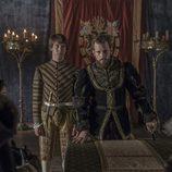 Carlos V y el príncipe Felipe en las Cortes de 'Carlos, rey emperador'