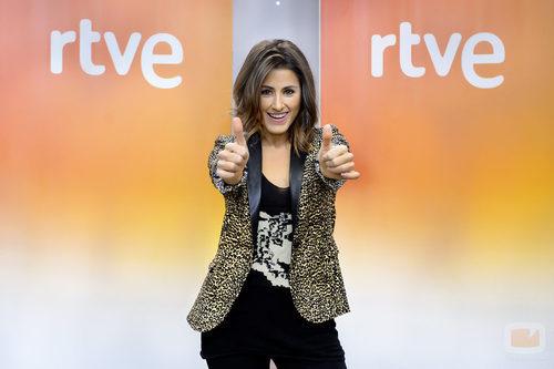 Barei en la rueda de prensa de 'Objetivo Eurovisión'