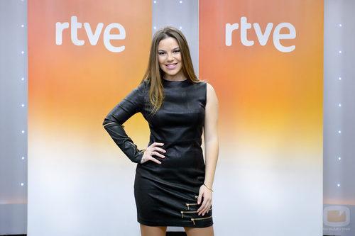 María Isabel en la rueda de prensa de 'Objetivo Eurovisión'