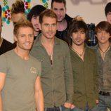 El grupo D'Nash antes de partir a Eurovisión