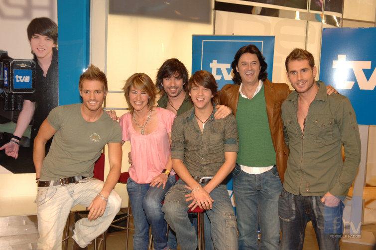 D'Nash en el photocall de Eurovisión