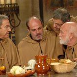 Fray Pelayo y sus compañeros frailes