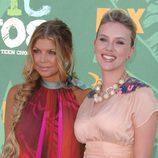 Fergie y Scarlett Johansson