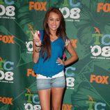 Miley Cyrus en los TCA 2008