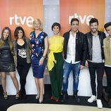 Los candidatos y presentadoras de 'Objetivo Eurovisión' al completo
