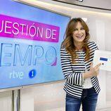 Patricia Gaztañaga en la rueda de prensa de 'Cuestión de tiempo'