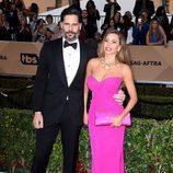 Sofia Vergara y Joe Manganiello en la alfombra roja de los SAG 2016