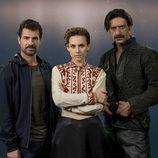 Rodolfo Sancho, Aura Garrido y Nacho Fresneda, protagonistas de 'El Ministerio del Tiempo'