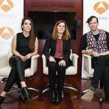 Ruth Lorenzo, Carmen Ferreiro y Edu Soto en la rueda de prensa de 'Tu cara me suena'