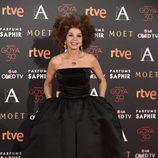 Victoria Abril en la alfombra roja de los Goya 2016