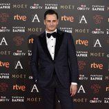 Asier Etxeandía en la alfombra roja de los Goya 2016