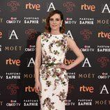 Natalia de Molina en la alfombra roja de los Goya 2016