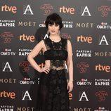 Sara Vega en la alfombra roja de los Goya 2016