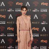 Leticia Dolera en la alfombra roja de los Goya 2016