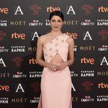 Bárbara Lennie en la alfombra roja de los Goya 2016