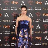 Verónica Sánchez en la alfombra roja de los Goya 2016