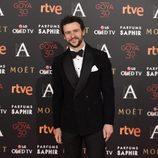 Diego Martín en la alfombra roja de los Goya 2016
