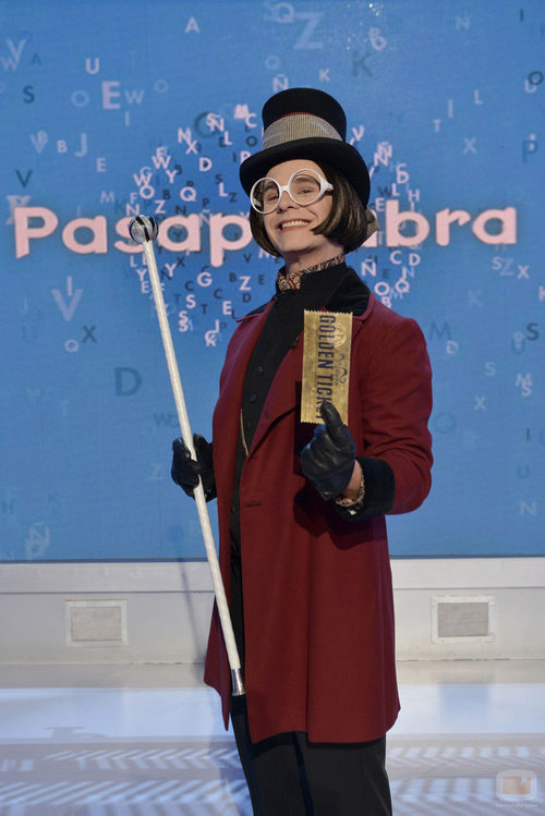 Christian Gálvez se convierte en Willy Wonka en el carnaval de 'Pasapalabra'