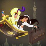 Jasmine y Aladdín pasan una velada romántica en París