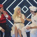 Alejandro Nieto, Charlotte Caniggia y Javier Tudela conversando en el confesionario de 'Gran Hermano Vip 2016'