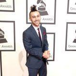 Max Schneider en la alfombra roja de los Premios Grammy 2016