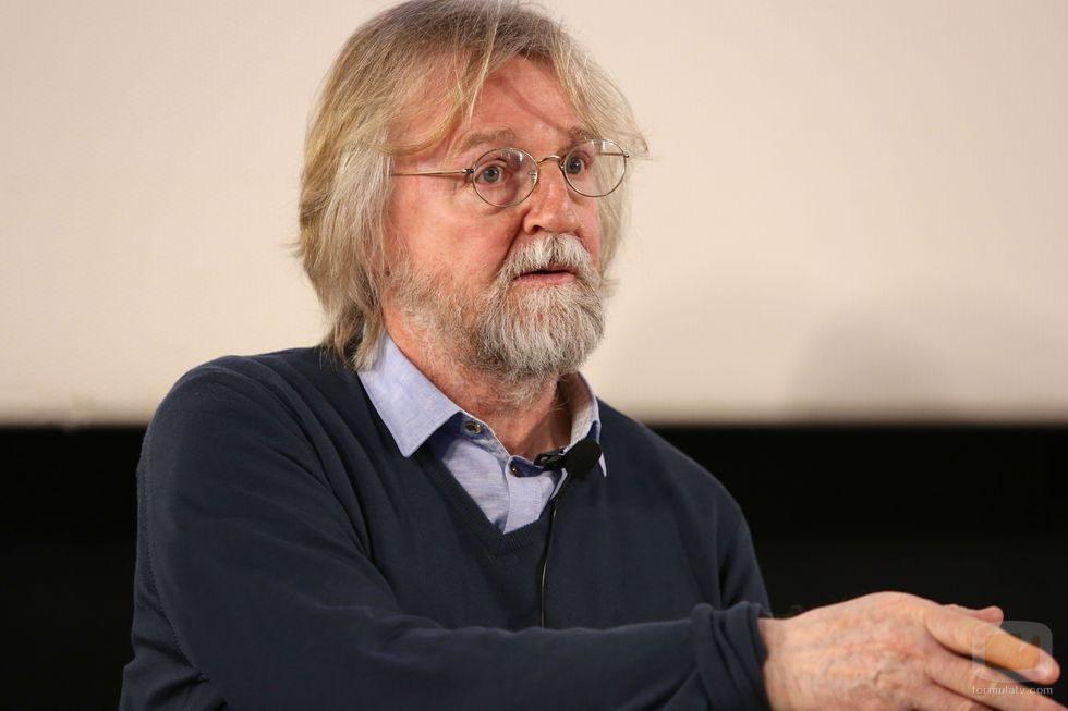 Michael Hirst hablando en la presentación de la nueva temporada de 'Vikingos'