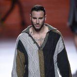 Esteban ('Gandía Shore') desfilando en Madrid Cibeles Fashion Week
