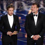 Ryan Gosling y Russell Crowe en la gala de los Premios Oscar 2016