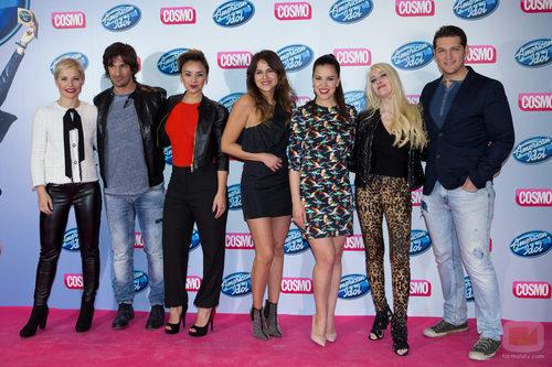 Los rostros famosos en la presentación de 'American Idol' en Cosmo