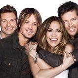 Los miembros del jurado y el presentador de la 14ª temporada de 'American Idol'