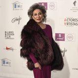 Luisa Gavasa en los Premios de la Unión de Actores