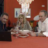 Carlos Herrera, Bibiana Fernández y Bertín Osborne comen juntos en 'En la tuya o en la mía'