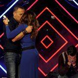 Carlos Lozano abraza a Raquel Bollo tras ser expulsada en 'Gran Hermano VIP'