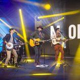 El grupo musical Morat en la gala 11 de 'Gran Hermano VIP'