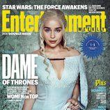 Emilia Clarke como Daenerys Targaryen en la portada de Entertainment Weekly
