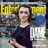 Maisie Williams como Arya Stark en la portada de Entertainment Weekly