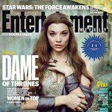 Natalie Dormer como Margaery Tyrell en la portada de Entertainment Weekly