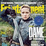Gwendoline Christie como Brienne en la portada de Entertainment Weekly