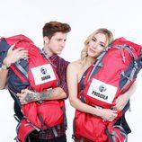 Priscila y Jonan, concursantes de la sexta edición de 'Pekín Express'