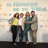Malena Alteiro, José Mota, Norma Ruiz y Paco Tous en el preestreno de 'El hombre de tu vida'