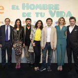 El equipo de 'El hombre de tu vida' posa en el Festval de Albacete