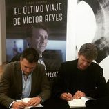 Tirso Calero y Juanjo Artero en la presentación de