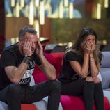 Laura Matamoros y Carlos Lozano emocionados en la gala 14 de 'Gran Hermano VIP'